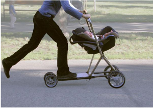 嬰兒車‧滑版二合一