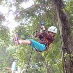 周末好去處 : 天水圍名樂魚莊 - 沿繩爬樹