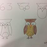 幼兒數字作畫,擴思考空間, 63變成貓頭鷹