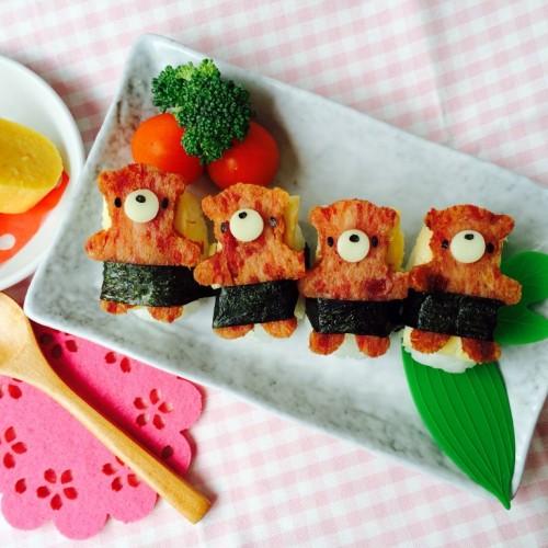 Happy Cook: 小熊午餐肉煎蛋壽司