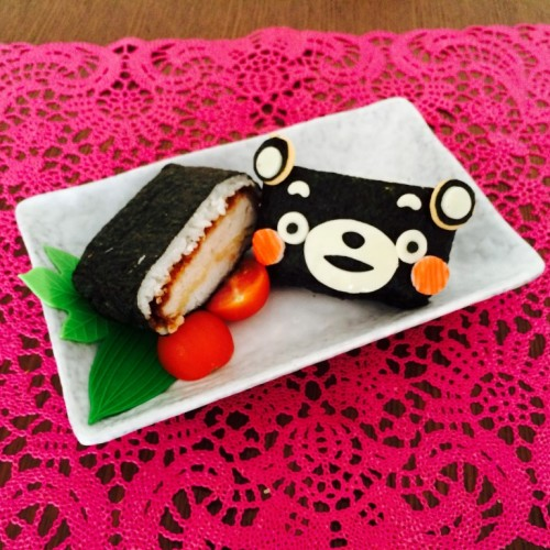 Happy Cook: Kumamon 三文治飯團