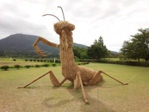 巨型稻草恐龍‧踩入日本 巨螳螂