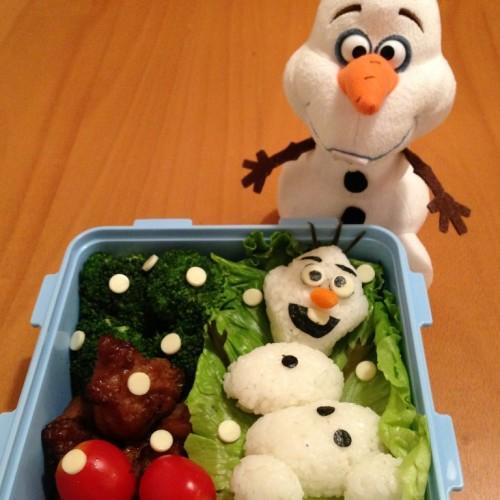 Happy Cook: Frozen雪人飯團