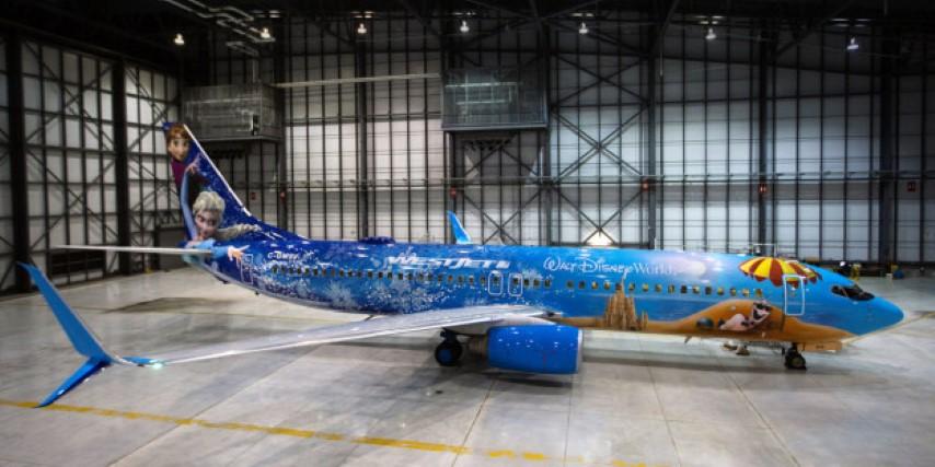 Frozen彩繪客機 ‧ WestJet有得搭