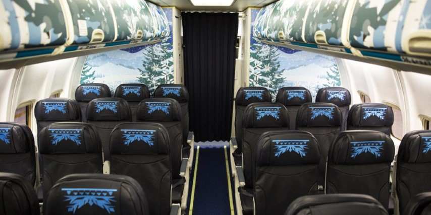 Frozen彩繪客機 ‧ WestJet有得搭 機內坐位充滿《魔雪奇緣》feel