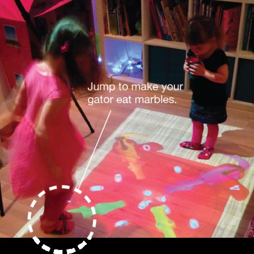 神奇地板投影機‧屋企即變遊樂場