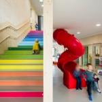歐洲「放任學習」幼兒園, 七色彩虹樓梯