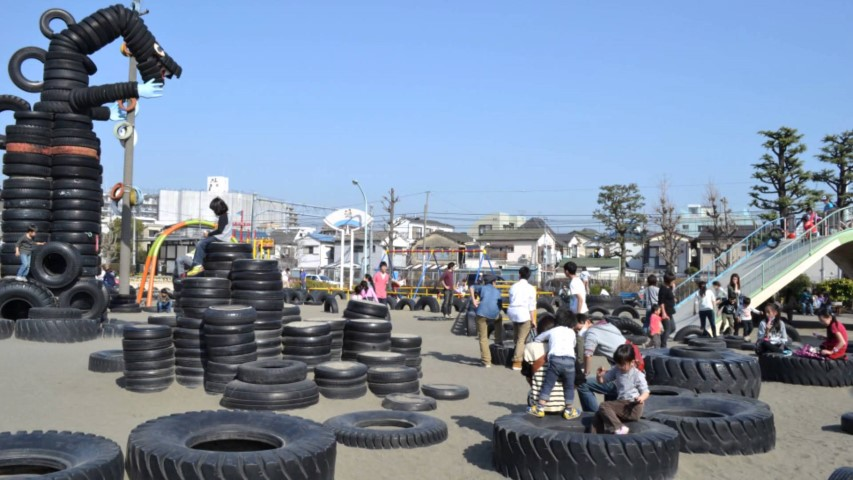 東京都全天候「輪胎」遊樂場