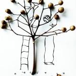 親子「花草樹枝」畫‧一齊「執」一齊畫