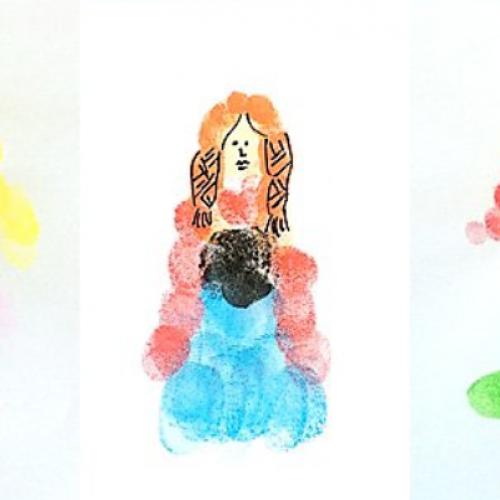 幼兒左右腦一齊「開工」.「手指」公主逐個畫