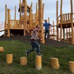 倫敦Northala Fields「四大巨丘」.小朋友「奔跑」樂園, 高低木柱