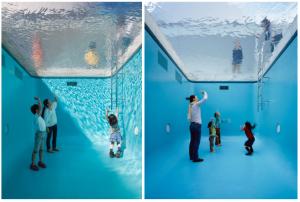 日本特製「泳池」.大小朋友玩「乾身」潛水 水底看世界