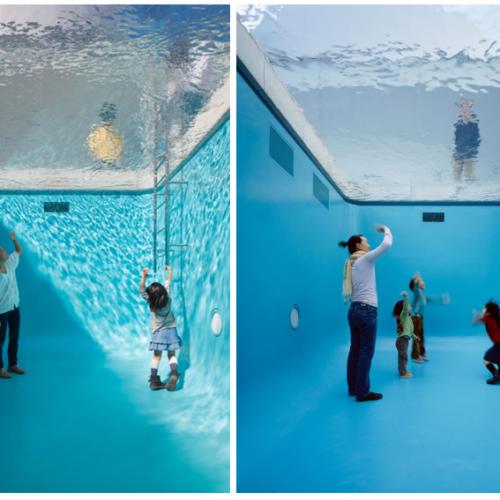 日本特製「泳池」.大小朋友玩「乾身」潛水
