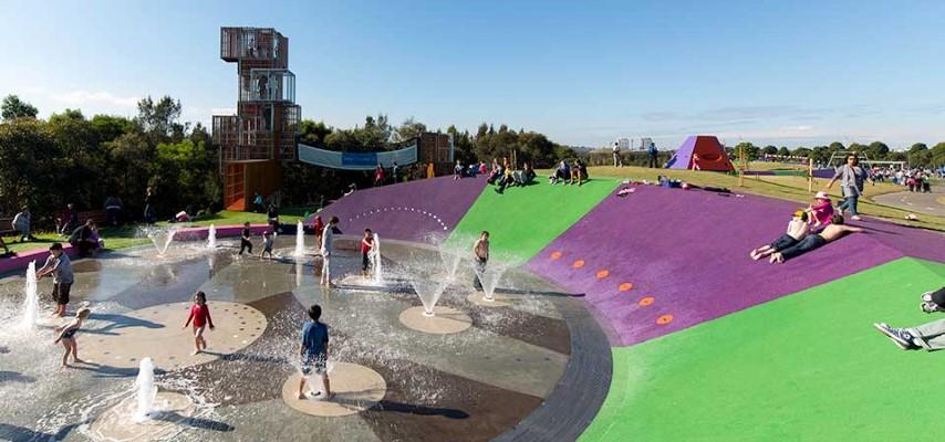 澳洲超級遊樂場,親子通山跑, 大型嬉水池