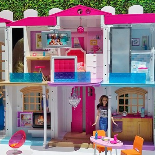 Barbie智能玩具屋可聲控燈光升降機