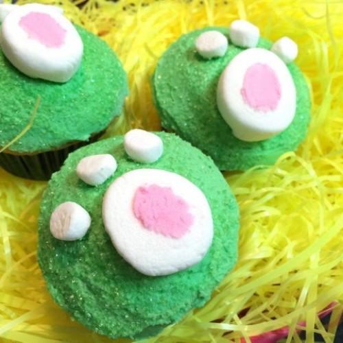 Happy Cook:「兔仔腳印」蛋糕仔‧踩入復活節