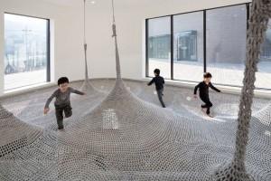 韓國Playground, 繩網,彈彈床, 比小朋友追趕跑跳