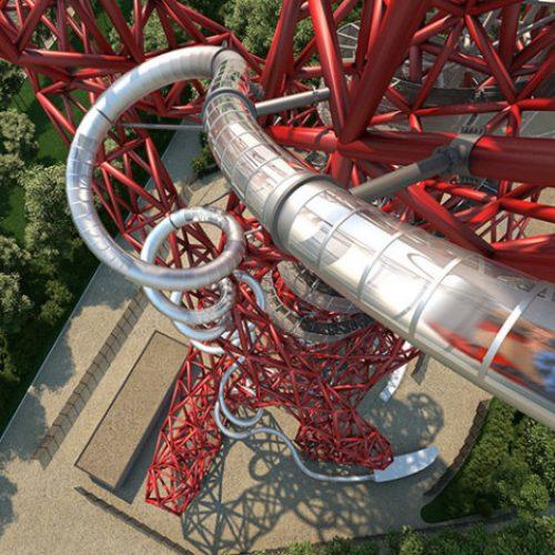 倫敦178米超長半透明滑梯.小朋友1.3m高就玩得!