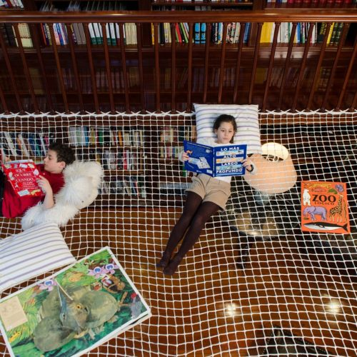 小朋友「閱讀繩網」.瞓身「嘆」圖書