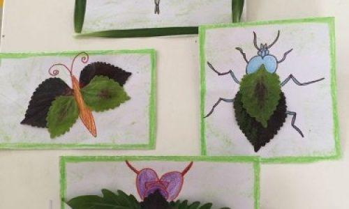 將「落葉」變「昆蟲」‧親子「郊遊手工」