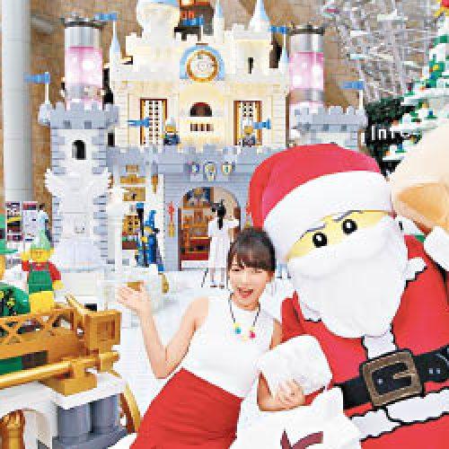 旺角LEGO城堡 「百萬」砌出白色聖誕