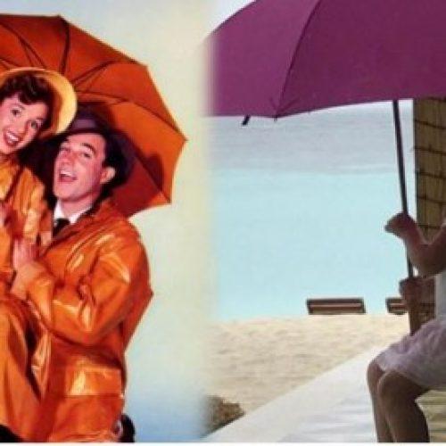 碧咸愛女哈七撐雨傘 向《萬花嬉春》德琵雷諾致敬