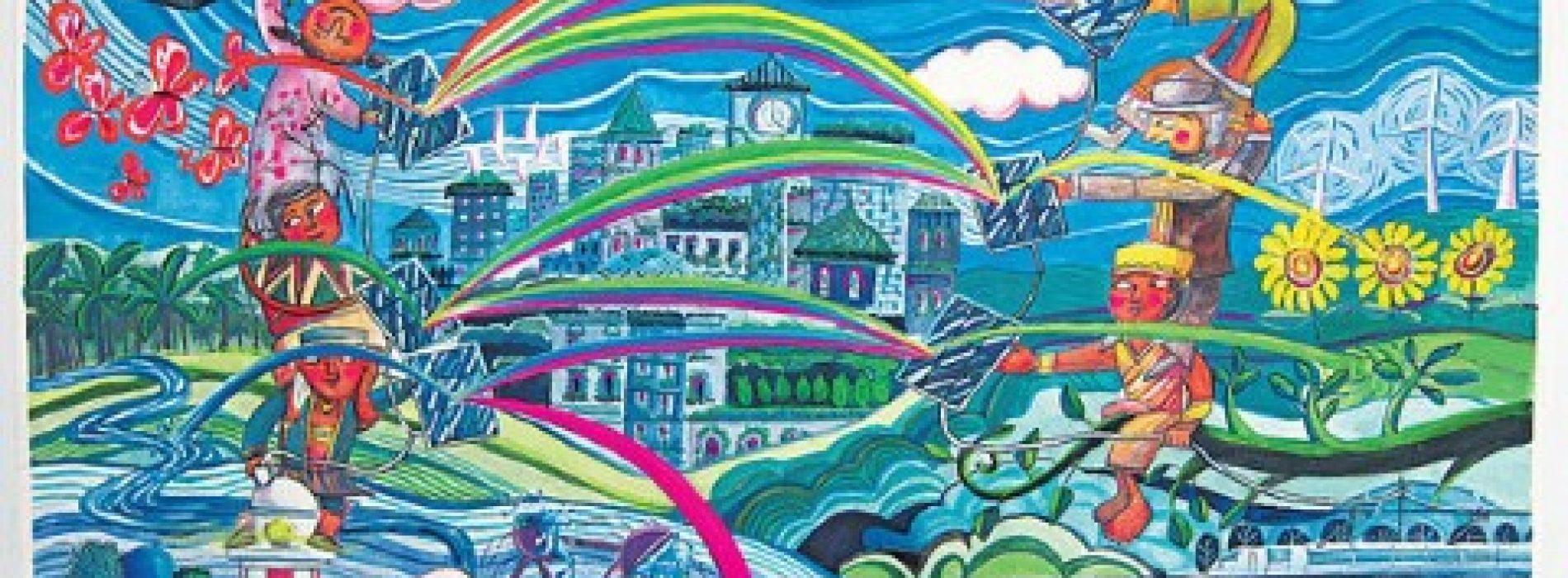 港3小畫家揚威 作品全球宣環保