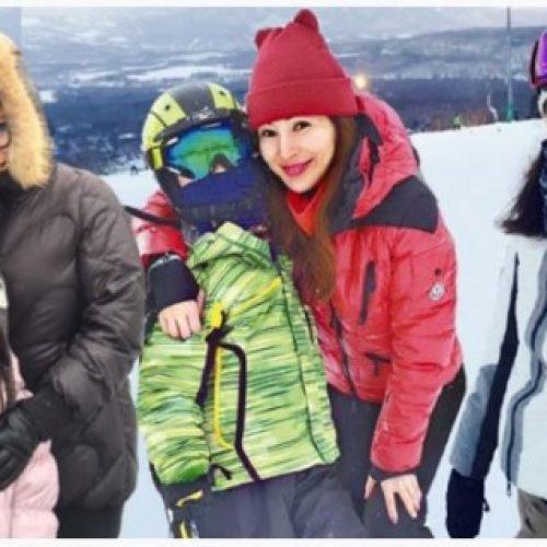 羅霖帶囝囝北海道滑雪 方中信李嘉欣兩家人札幌遇大風雪