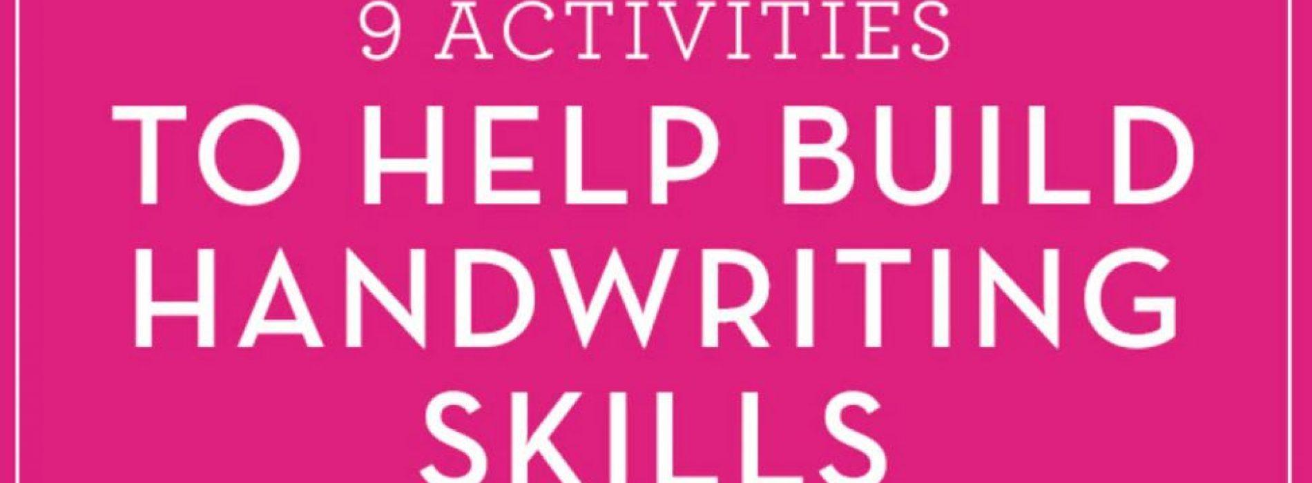 9個容易的活動,建立孩子的手寫技巧