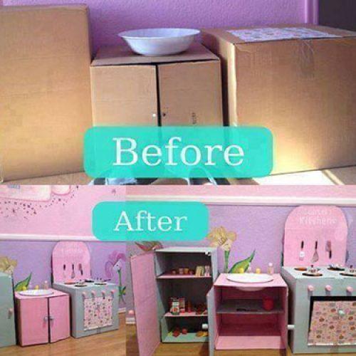 用紙皮箱做出獨一無二的玩具