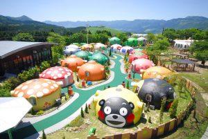 日本Aso farmland.住熊本熊「蒙古包」